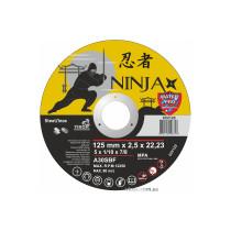 """Диск відрізний по металу та нержавіючій сталі NINJA ТМ """"VIROK"""" Ø=125х22.23 мм t=2.5 мм"""