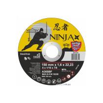 """Диск відрізний по металу та нержавіючій сталі NINJA ТМ """"VIROK"""" Ø=150х22.23 мм t=1.6 мм"""