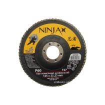 Круг пелюстковий шліфувальний NINJA TM VIROK Т27 125х22 мм Р60
