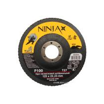 Круг пелюстковий шліфувальний NINJA TM VIROK Т27 125х22 мм Р100