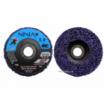 Круг зачистний нетканий жорсткий NINJA TM VIROK Т27 125 х 22 х 13 мм Р46