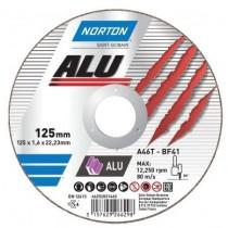 """Диск відрізний по алюмінію  """"NORTON-Alu"""" A46N; Ø= 230/22,2 мм, t= 1,9 мм"""