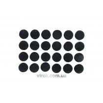 Протектор самоклеючий антиковзкий VOREL, 10мм набір 24шт. (чорні) [60/720]