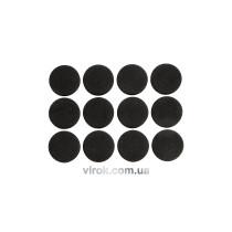 Протектор самоклеючий антиковзкий VOREL,28мм, набір 12шт. (чорні) [60/720]