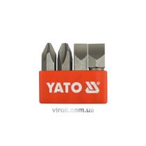 """Насадки викруткові ударні YATO, на кв. 5/16"""", l=36 мм,  набір 4шт."""