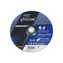 "Круг шліфувальний по металу і нержавіючій сталі ""NORTON VULCAN"" Ø=230х22.2 мм t=6.4 мм"