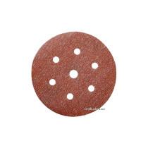 Круг шліфувальний з наждачного паперу з липучкою і 7 отворами (6Н+1) NORTON Pro-A275 Ø=150 мм Р220