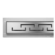 """Трап підлоговий для душу з нержавіючої сталі """"OLIMP"""" FALA; 80х 7х 7 см, сифон h= 52 мм"""