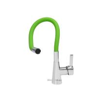 """Змішувач води для раковини """"FLEXIBLE"""" FALA з гнучкою зеленою лійкою"""