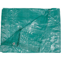Тент зелений VOREL 57 гр/м², 4 х 6 м