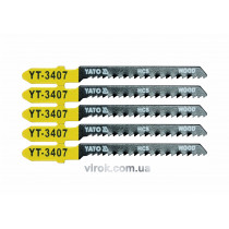 Полотно для електролобзика (дерево) YATO HCS 13TPI 75 мм 5 шт
