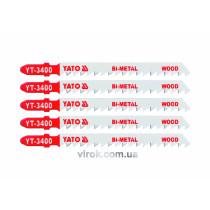 Полотно для електролобзика (дерево, сталь) YATO Bi-Metal 6TPI 100 мм 5 шт