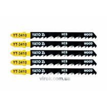 Полотно для електролобзика (дерево) YATO HCS 6TPI 100 мм 5 шт