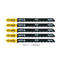 Полотно для електролобзика (дерево) YATO HCS 8TPI 100 мм 5 шт