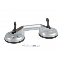 Присоска для монтажу скла подвійна VOREL, d= 115 мм, m=70kg, алюмін. [10]