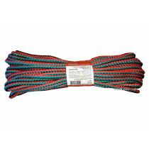 """Мотузка господарська """"Веселка"""" TM VIROK, 6мм Х 20 м, р/н=90кгс, поліпропіленова, з серцевиною"""