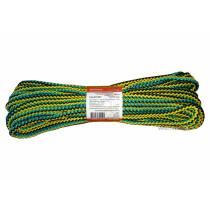 """Мотузка господарська """"Веселка"""" TM VIROK, 7мм Х 20 м, р/н=100кгс, поліпропіленова, з серцевиною"""