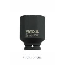 """Головка торцева ударна YATO глибока 6-гранна, з квадрр. 3/4"""", М=48мм, l=90мм"""