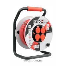 Подовжувач електр./мережевий YATO на катушці l=40мм, 3-жильний, Ø=2,5мм2