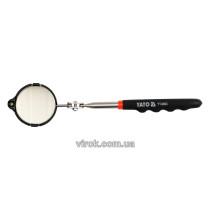 Дзеркало Ø= 54 мм інспекційне YATO з підсвітлюванням на телескоп. ручці l= 265-920 мм [10/100]