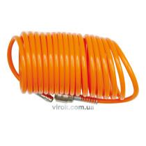 Шланг пневматичний спіральний VOREL 6 х 8 мм 10 м