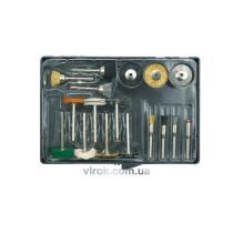 Насадки шліфувальні та полірувальні для мінішліфмашини VOREL 17 шт