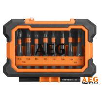 """Набір викруткових насадок ударних AEG 50 мм HEX- 1/4"""" 10 шт + футляр"""