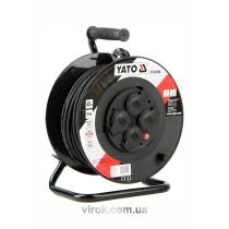 Подовжувач електр./мережевий до 16 А YATO на котушці; кабель 3-жильний Ø=1,5 мм², l= 40 м