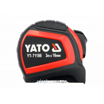Рулетка сталева з нейлоновим покриттям YATO 3 м х 16 мм