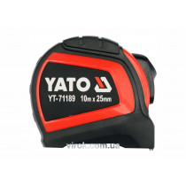 Рулетка сталева з нейлоновим покриттям YATO 10 м х 25 мм