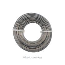 Жилка для тримера 3-кутна VOREL Ø= 2,4 мм; l= 15 м  [10/120]