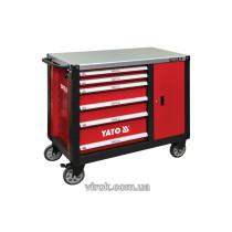 Шафа-візок для інструментів YATO з 6 шуфлядами, 1000x 1130x 570 мм