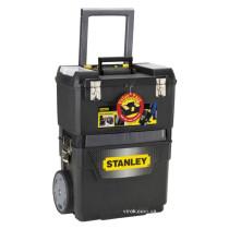 """Ящик для інструментів на колесах пластиковий STANLEY """"Mobile Work Center 2 in 1"""" 47.3 x 30.2 x 62.7 см з органайзерами"""