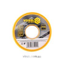 Фум - стрічка VOREL тефлонова ущільнююча, l= 15 м, b= 19 мм, h= 0,2мм