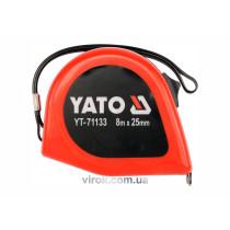 Рулетка сталева YATO 8 м x 25 мм