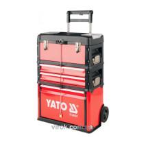 Валіза-візок для інструментів на 2-х колесах з 4 секціями і висувн. ручкою
