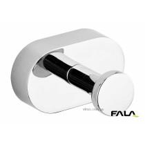 Гачок одинарний, прямий для санвузлів FALA металевий, покритий хромом; кріплення дюб/шуруп