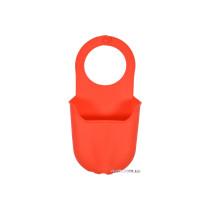 Органайзер для губки підвісний силіконовий червоний FALA 200 х 100 мм
