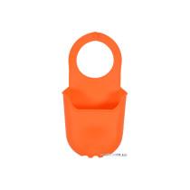 Органайзер для губки підвісний силіконовий оранжевий FALA 200 х 100 мм