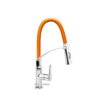 """Змішувач води для раковини """"FLEXIBLE-2"""" FALA з гнучкою оранжевою лійкою і регулюванням потоку води 60 см"""
