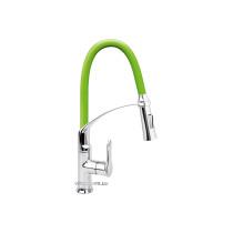 """Змішувач води для раковини """"FLEXIBLE-2"""" FALA з гнучкою зеленою лійкою і регулюванням потоку води 60 см"""