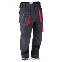 Штани робочі YATO червоно-чорні, розмір XXL