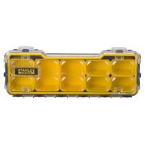 """Органайзер 1/3 мілкий з прозорою кришкою Stanley """"Fatmax Pro""""; 8 лотків, 43х 15х 6,4 см"""