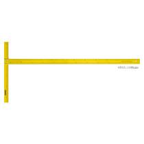 Кутник Т-подібний STANLEY : L= 122 см, для розкрою г/к плит, з дюймовою і метричною шкалами