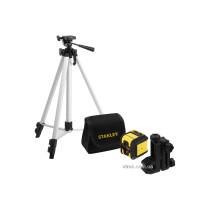 """Нівелір лазерний-крос червоний з штативом STANLEY """"Cubix"""" 12 м точність ±6 мм/10 м"""