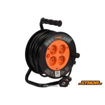 Подовжувач електричний на котушці STHOR 15 м 1 мм² 4 гнізда 3-жильний