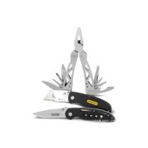 """Плоскогубці STANLEY """"Multitool"""" + ніж кишеньковий + складений ніж"""
