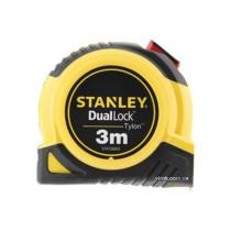 """Рулетка з метричною шкалою STANLEY """"TYLON DUAL LOCK"""" 3 м х 13 мм"""