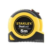 """Рулетка з метричною шкалою STANLEY """"TYLON DUAL LOCK"""" 5 м х 19 мм"""