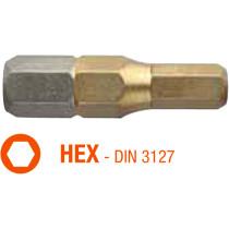 Насадка викруткова титанова ISOTIN USH HEX 5 x 25 мм Torsion 10 шт